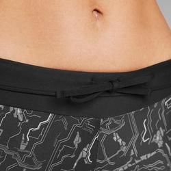 Mallas Piratas Leggings Deportivos Running Kalenji Run Dry+ Mujer Negro