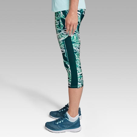 RUN DRY+ WOMEN'S RUNNING CROPPED BOTTOMS - GREEN
