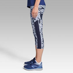 Run Dry+ Women's Running Cropped Bottoms - Blue