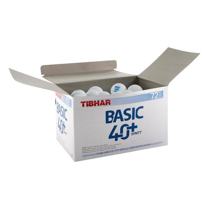BALLES DE TENNIS DE TABLE BASIC SL 4+ X72 BLANCHES - 161242