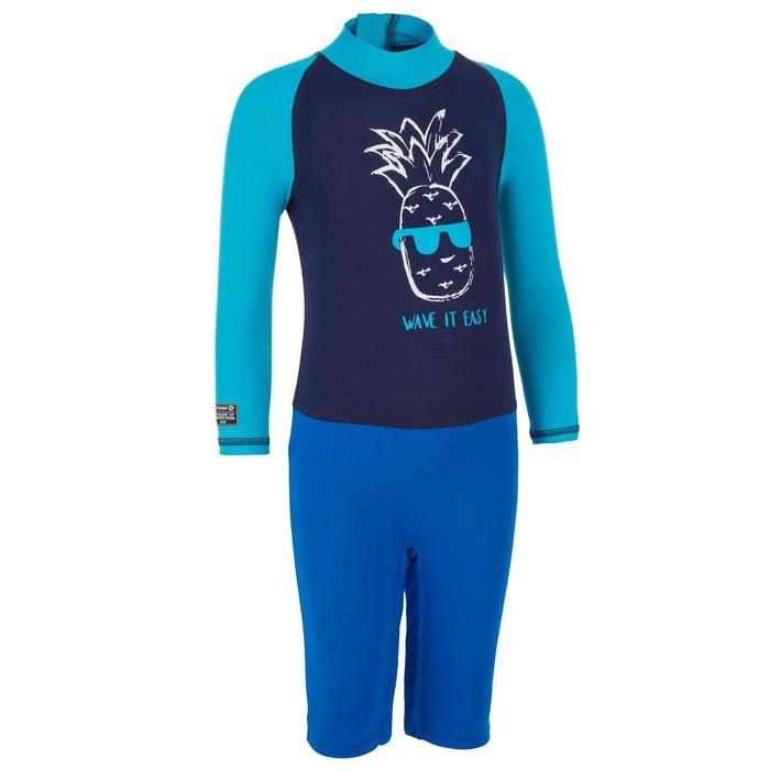 UV-resistant baby's short sleeve surfing shorty t-shirt