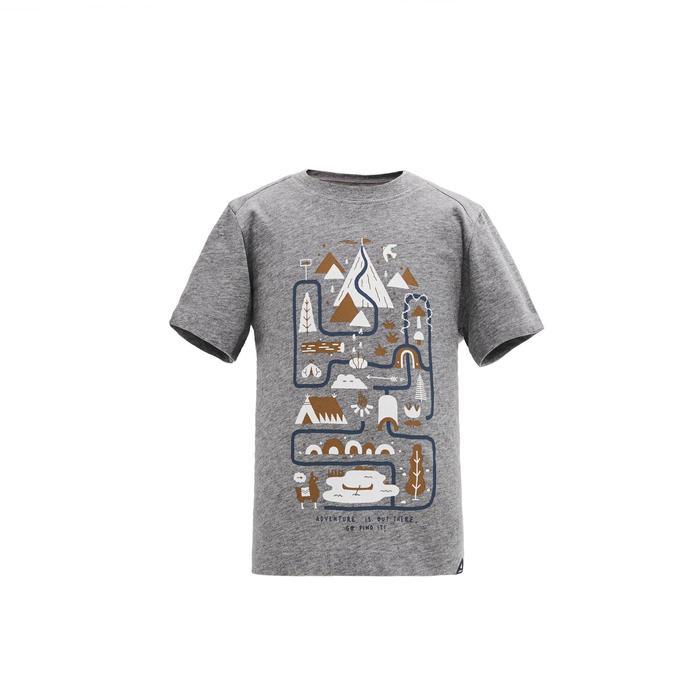 兒童款健行T恤MH100-灰色