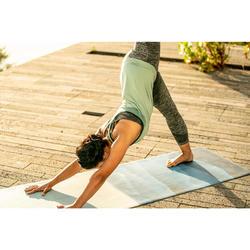 Damestop dynamische yoga naadloos groen