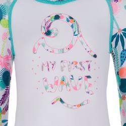 tee shirt anti UV shorty surf manches courtes bébé blanc