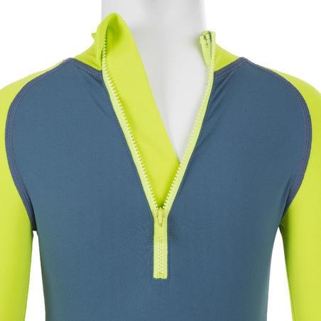 Atasan shorty surfing lengan pendek anti UV bayi – hijau limau