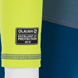 Top Camiseta Proteción Solar Playa Surf Olaian Bebé Verde Azul ANTI-UV