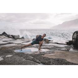 Tank-Shirt Yoga nahtlos Herren schwarz/grau