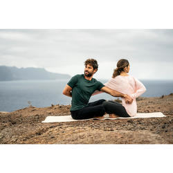 Broek voor zachte yoga heren biologisch katoen zwart