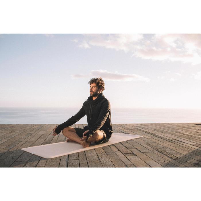 Yogamatte Naturkautschuk/Jute 4mm beige