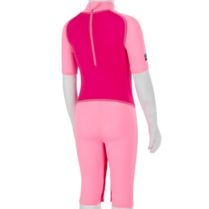 Top Camiseta Proteción Solar Playa Surf Nabaiji Bebé Rosa Magenta ANTI-UV