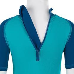 Top Camiseta Proteción Solar Playa Surf Nabaiji Bebé Azul Azul Turquesa ANTI-UV