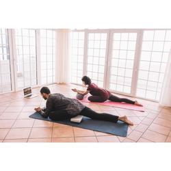 Langarmshirt Yoga Herren nahtlos schwarz/grau