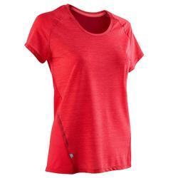 女款跑步T恤RUN LIGHT - 紅色