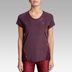 Laufshirt kurzarm Run Light Damen bordeaux