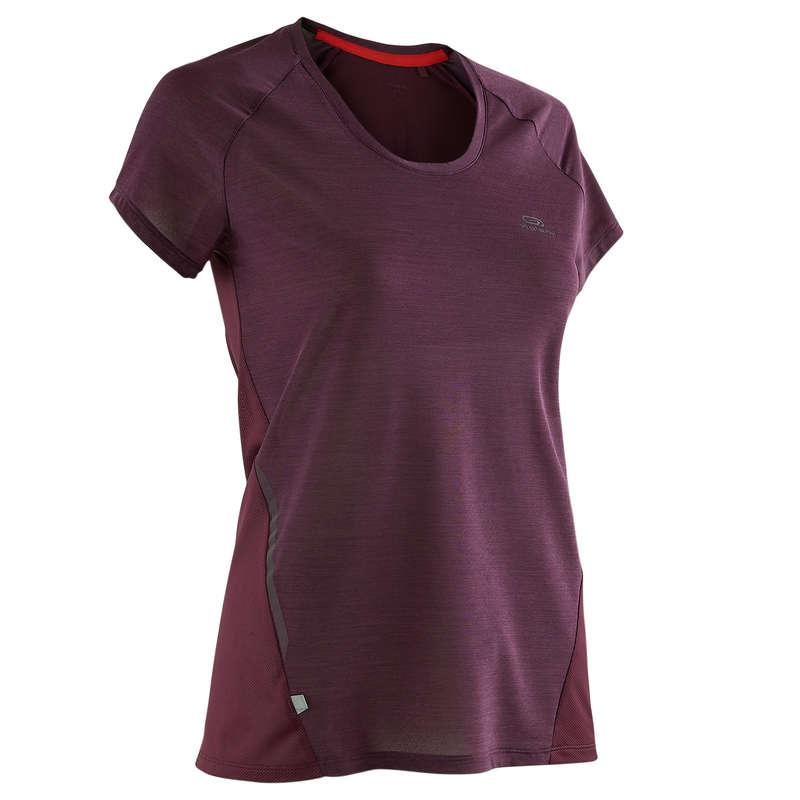 ABBIGLIAMENTO TRASPIRANTE DONNA Running, Trail, Atletica - T-shirt donna RUN LIGHT viola KALENJI - Abbigliamento Running