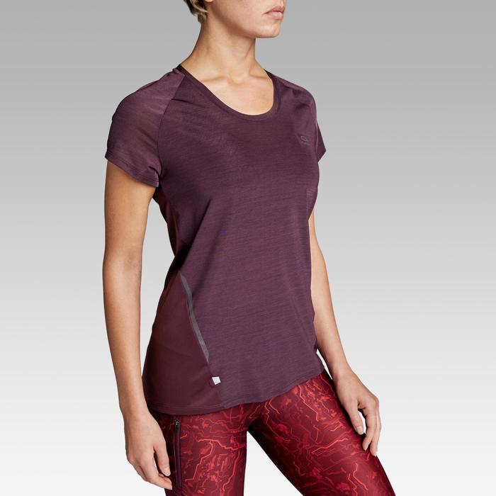 Dames T-shirt voor jogging Run Light pruim