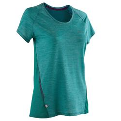 Dames T-shirt voor jogging Run Light groen