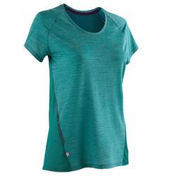 女款跑步T恤Run Light - 綠色