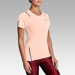 RUN DRY+ WOMEN'S RUNNING T-SHIRT - PALE PINK