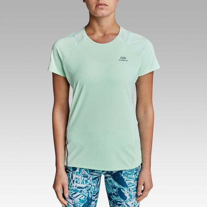 Hardloopshirt voor dames Run Dry+ lichtgroen