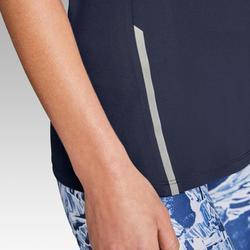 Hardloopshirt voor dames RUN DRY+ marineblauw