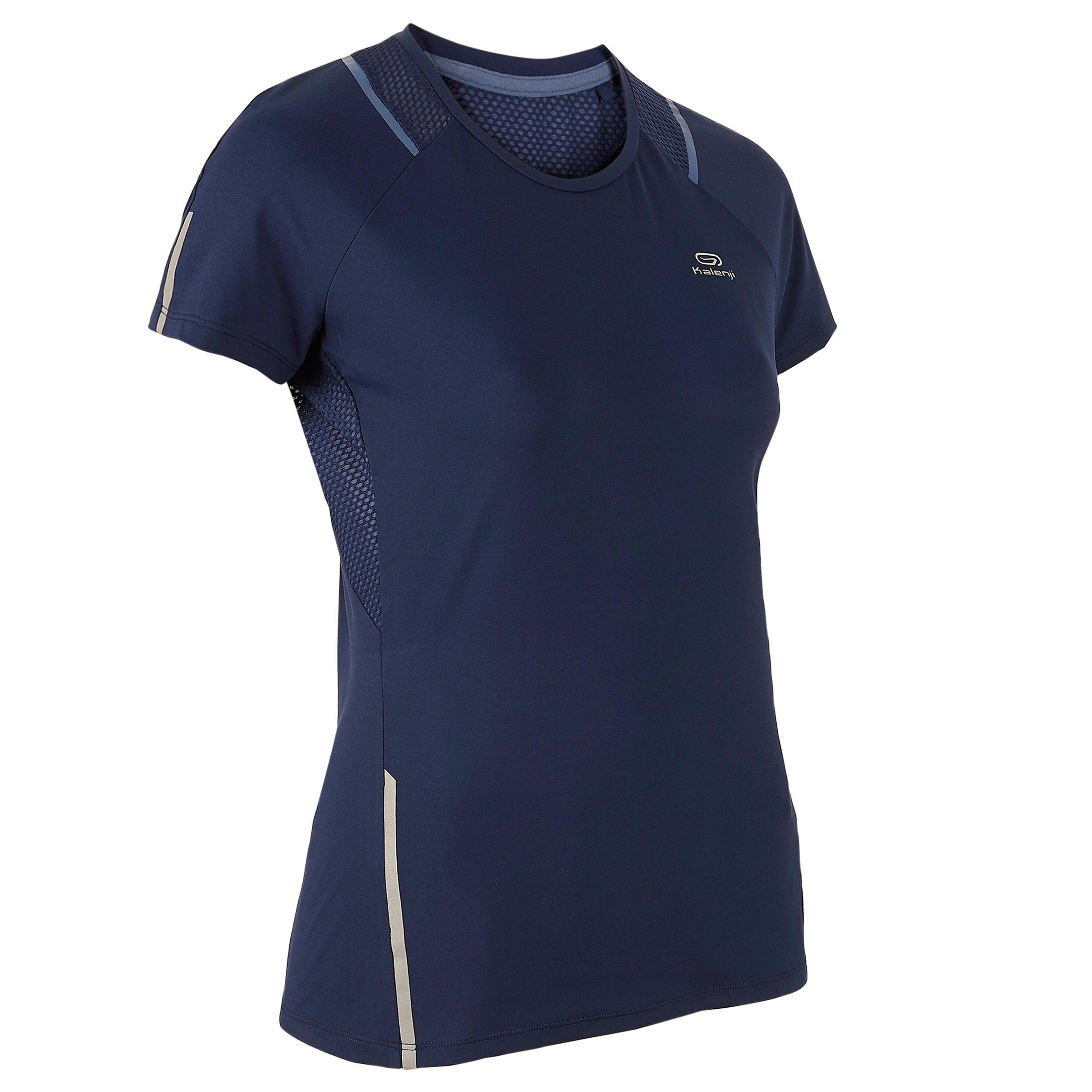 Laufshirt kurzarm Run Dry+ Damen marineblau | Sportbekleidung > Sportshirts > Laufshirts | Blau | Kalenji