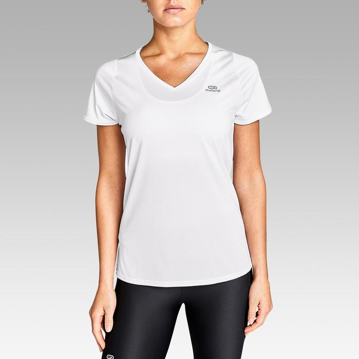 Dames T-shirt voor jogging Run Dry wit