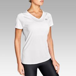 Hardloop-T-shirt voor dames Run Dry wit