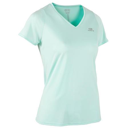 Kaus lari Wanita Run Dry - Hijau Terang