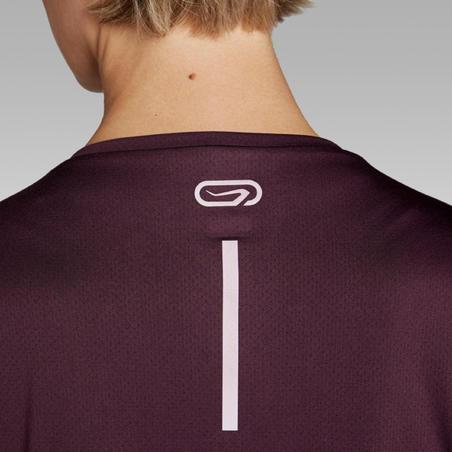 T-Shirt Lari Wanita Run Dry - Plum