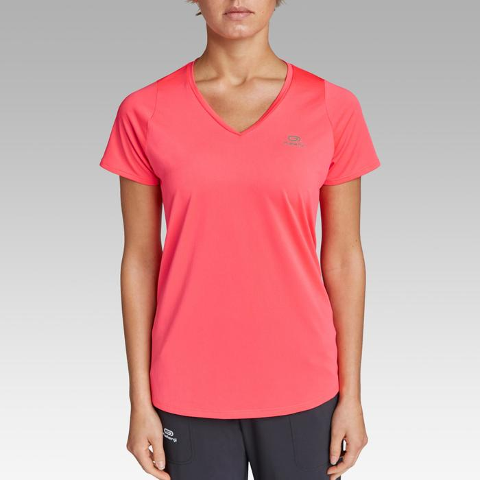 女款跑步T恤Run Dry - 珊瑚紅