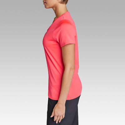 Жіноча футболка Run Dry для бігу - Коралова