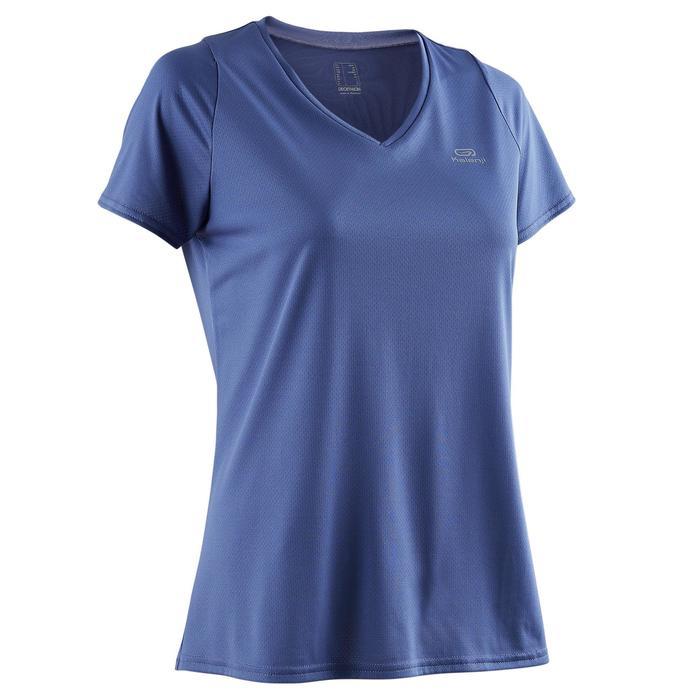 Laufshirt Kurzarm Run Dry Damen blau