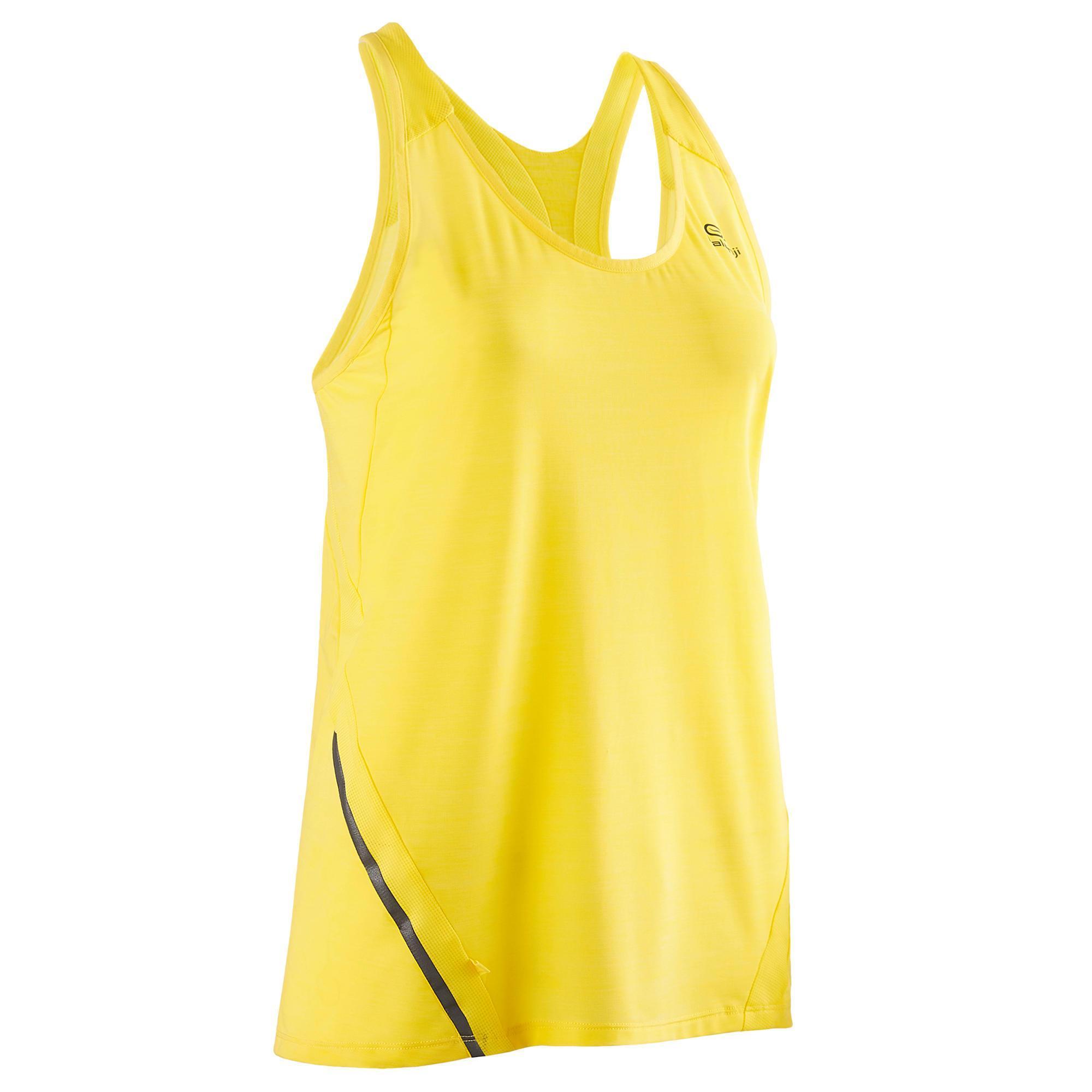 Lauftop Run Light Damen gelb | Sportbekleidung > Sporttops | Gelb | Baumwolle - Ab | Kalenji