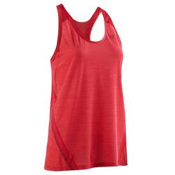 Camiseta Sin Mangas Running Kalenji Mujer Rojo