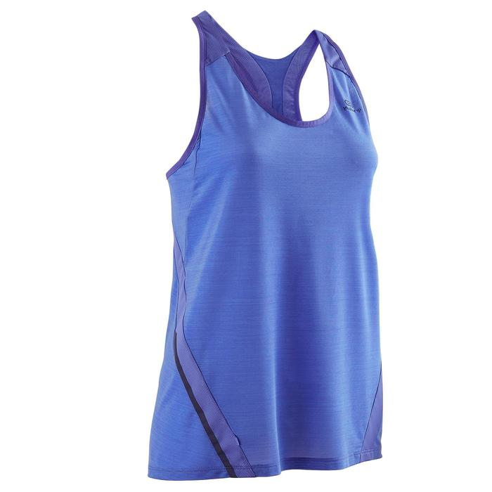 CAMISETA SIN MANGAS RUNNING MUJER RUN LIGHT AZUL LAVANDA