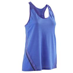 Camiseta Sin Mangas Running Kalenji Run Light Mujer Azul Lavanda