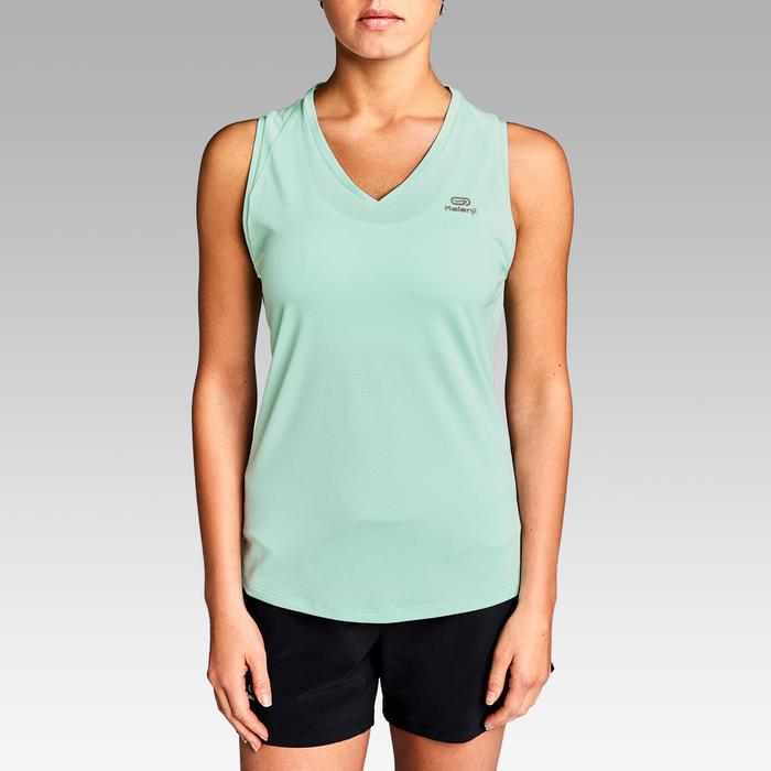 Mouwloos hardloopshirt voor dames Run Dry lichtgroen