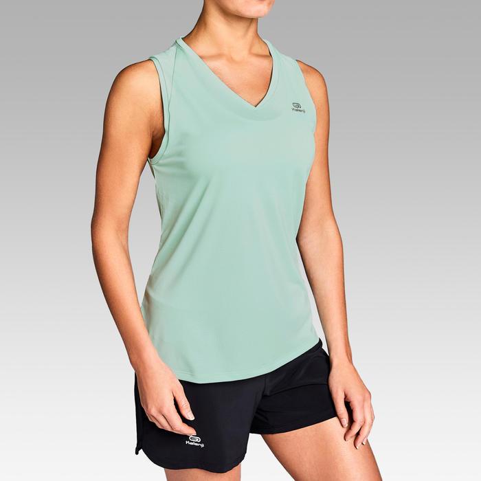 Áo thun không tay chạy bộ Run Dry cho nữ - Xanh lá cây nhạt