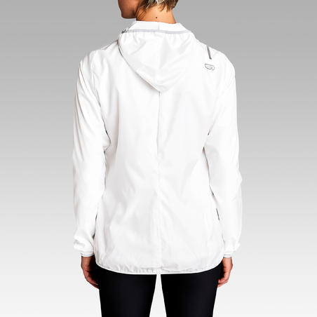 Jaket Tahan Angin Lari Run Wind Wanita - Putih