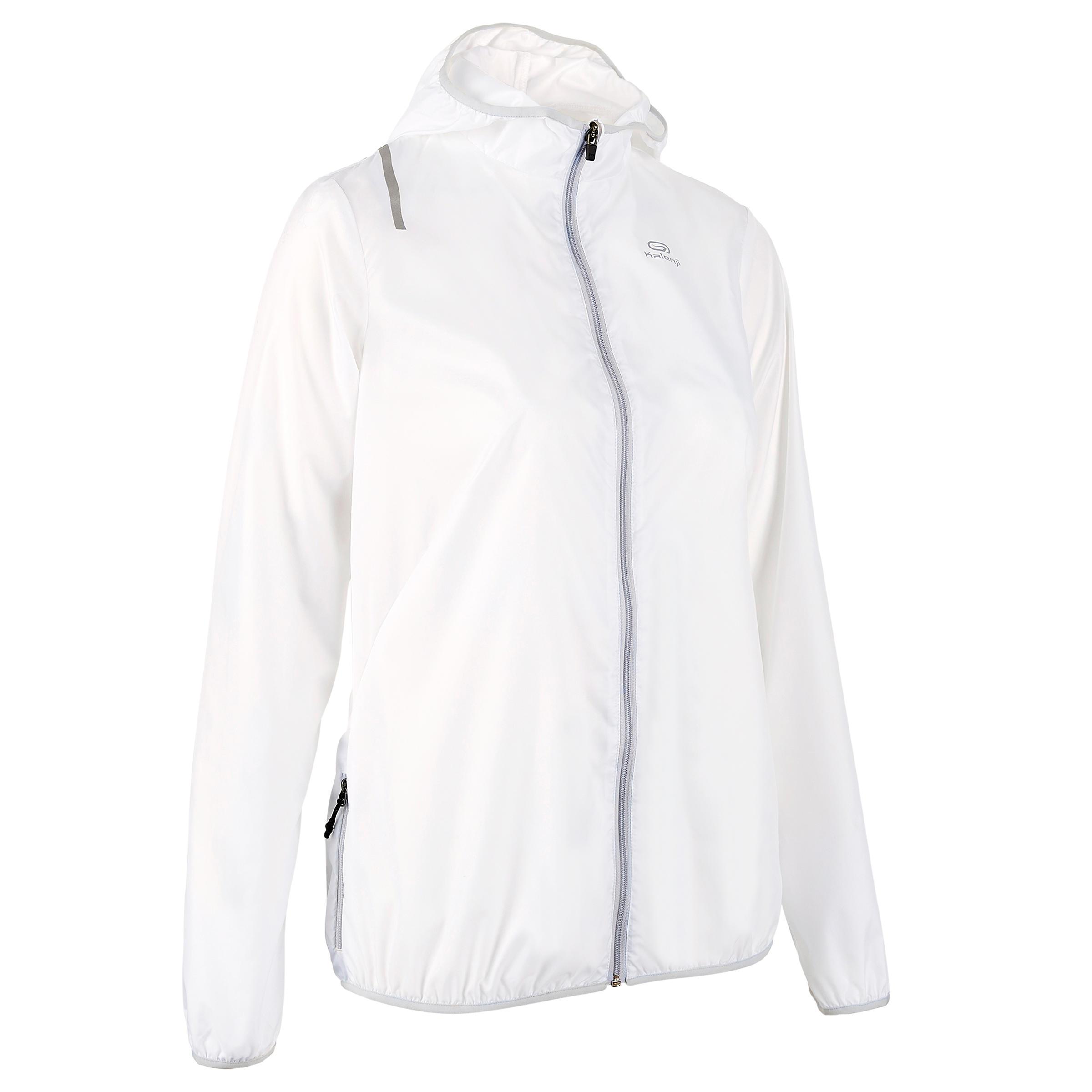 Laufjacke Run Wind Damen weiß | Sportbekleidung > Sportjacken > Laufjacken | Weiß - Grau - Blau | Kalenji