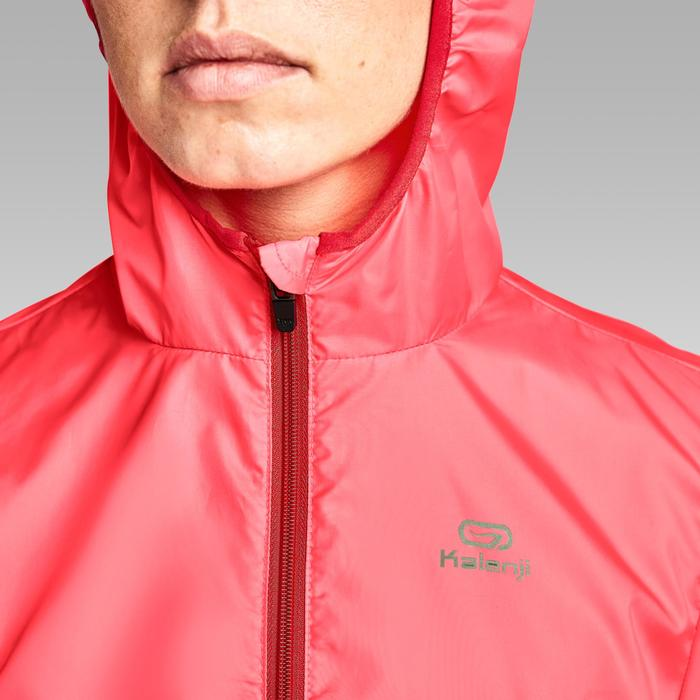 VESTE COUPE VENT JOGGING FEMME RUN WIND CORAIL