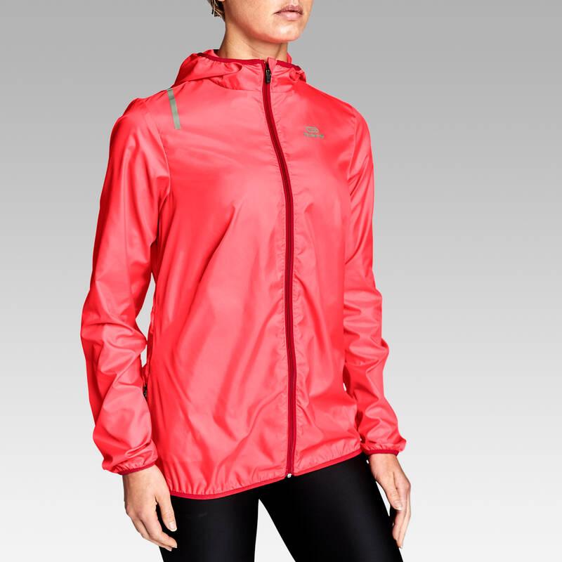DÁMSKÉ OBLEČENÍ NA JOGGING DO DEŠTĚ A VĚTRU Běh - BUNDA RUN WIND KALENJI - Běžecké oblečení
