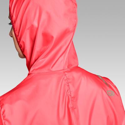 מעיל רוח לריצה לנשים דגם Run Wind - קורל