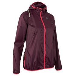 Hardloopjack wind dames voor jogging Run Wind pruimkleur