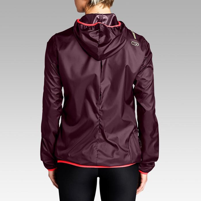 Dames windjack voor jogging Run Wind pruimkleur