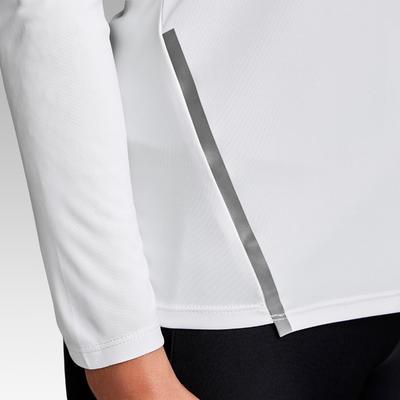Сонцезахисна футболка Run Sun Protect для бігу,з довгими рукавами - Біла