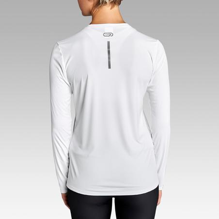 """Moteriški ilgarankoviai bėgimo marškinėliai """"Run Sun Protect"""", balti"""