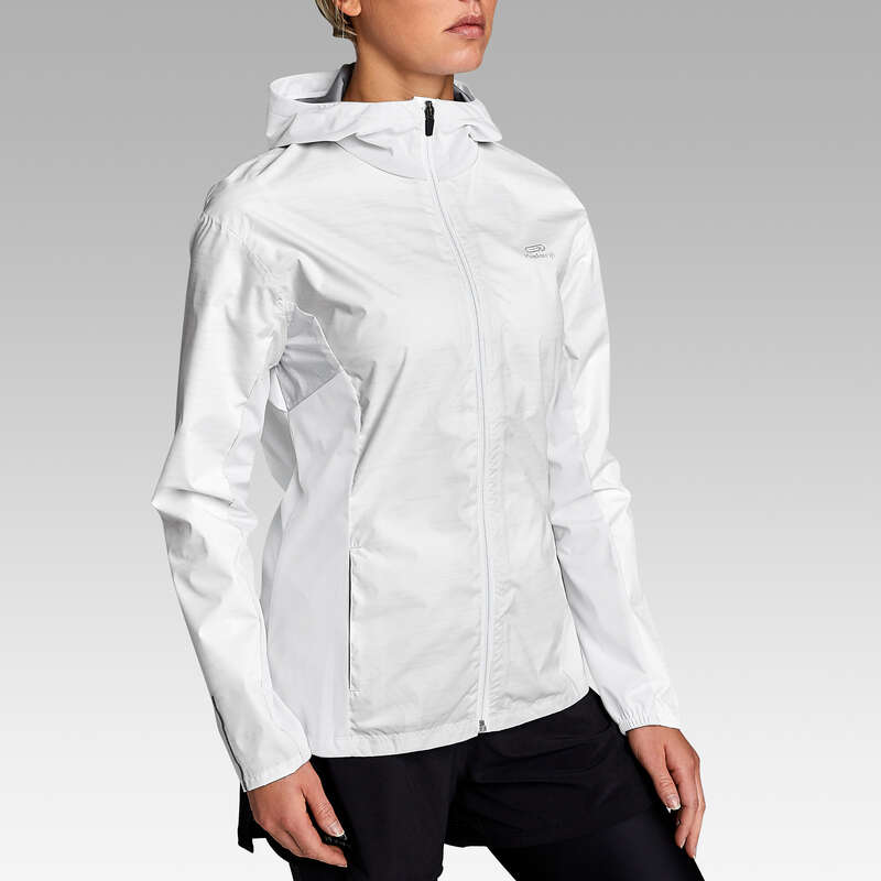 KADIN DÜZELİ KOŞU YAĞMURLU HAVA GİYİM Koşu - RUN RAIN CEKET KALENJI - Kadın Koşu Kıyafetleri