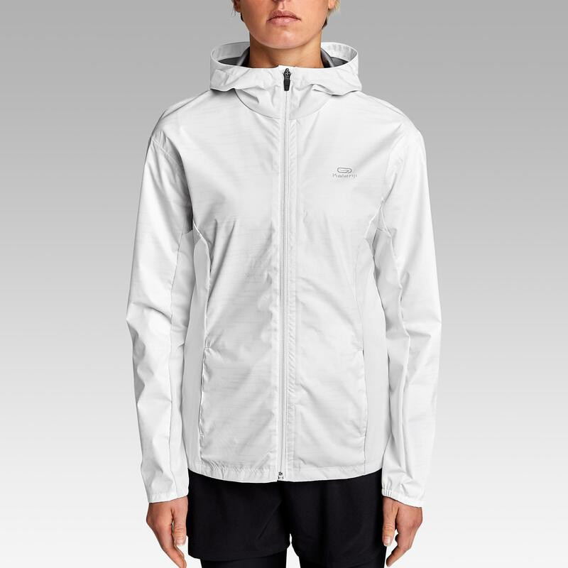 Chaqueta Running Run Rain Mujer Blanco